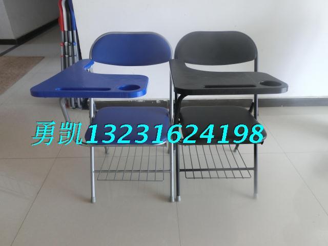皮革软垫折叠一体学习桌椅