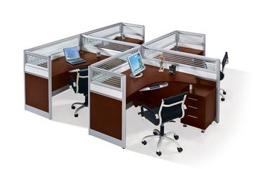 广州二手办公卡位 屏风 员工桌椅回收 出售