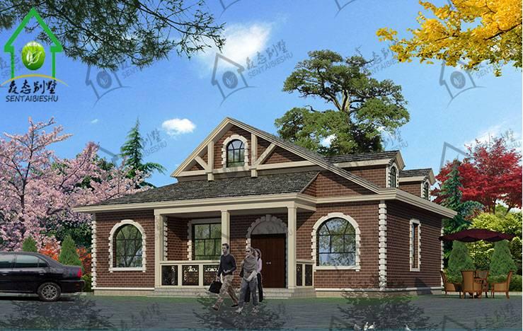 农村自建房图纸 一层简约带阁楼施工图纸 别墅设计图