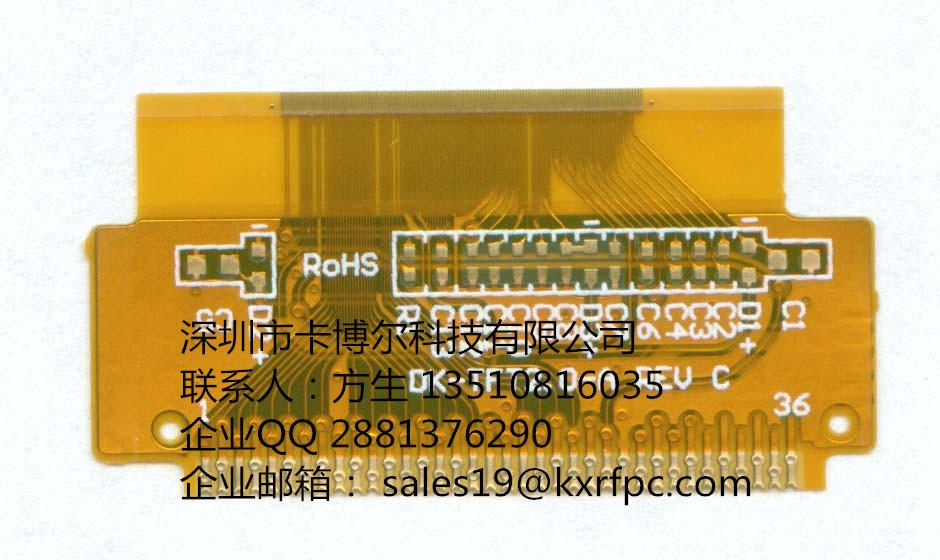 说到FPC排线,大家肯定了解或熟悉了FPC是什么?FPC按功能分,可分为很多种,如FPC天线、FPC触摸屏、FPC电容屏等,FPC排线就是其中的一种,通俗点说,FPC排线就是可在一定程度内弯曲的连接线组。FPC排线因为是FPC的一种,因此,它的构成与FPC的构成相同。FPC一般是长条形的,两端设计成可插拔的针状,可直接与连接器相连或焊接在产品上。中间一般为线路,因为FPC排线都需要一定的柔韧性,因此,基材一般是用压延铜,耐曲折,柔韧。FPC排线用到的表面处理工艺一般是沉金,偶尔有防氧化。但防氧化工艺不能耐