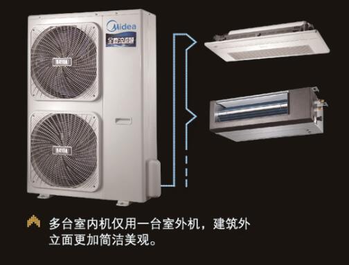 美的卧室专用中央空调kfr-26t2w/d-tr北京批发价格
