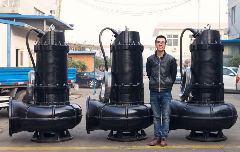 污水泵浮球控制接线实物图