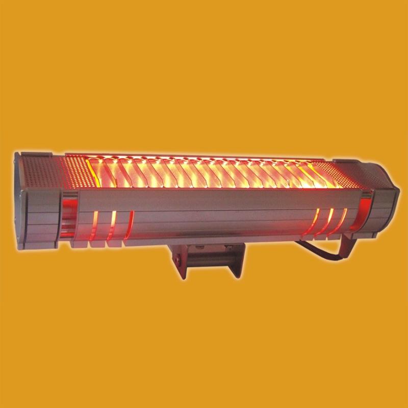 为满足广大客户应用需要,我们开发了这款红外辐射模块。 辐射罩采用优质铝合金型材,专门开模拉制,然后氧化抛光加工成型。两端冷区 我们设计了简洁有效的散热部。辐射区安装了金属保护格栅,防止工作中辐射器表面 高温对操作者造成伤害。 电压220V,电源插座线长达2.9m。 背部设计有便于调节角度的安装块。 技术指标 电压:220V(可客户指定)。 功率:1800W(可客户指定)。 有效辐射区:300×80mm(可为客户定制,10只起)。 净重:约1.