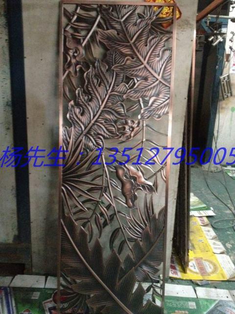 别墅铝板镂空雕花隔断 中式装修风格铝艺浮雕雕刻隔断