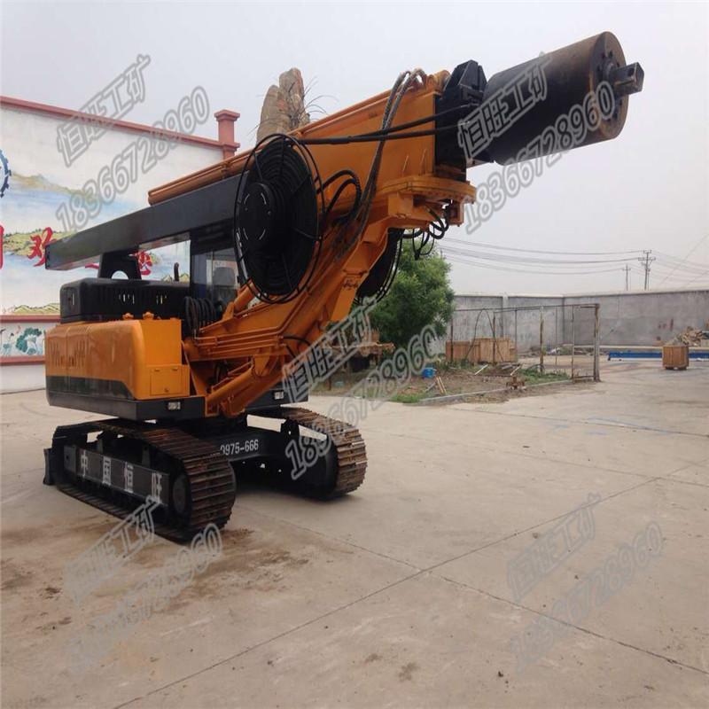 履带式旋挖钻机 大型工程钻机 地基打桩机 济宁恒旺高清图片 高清大图图片