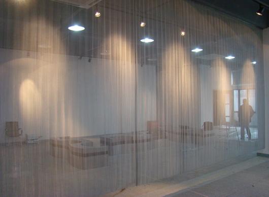 定制金属不锈钢编织建筑外墙装饰网轧花扁条交叉编织
