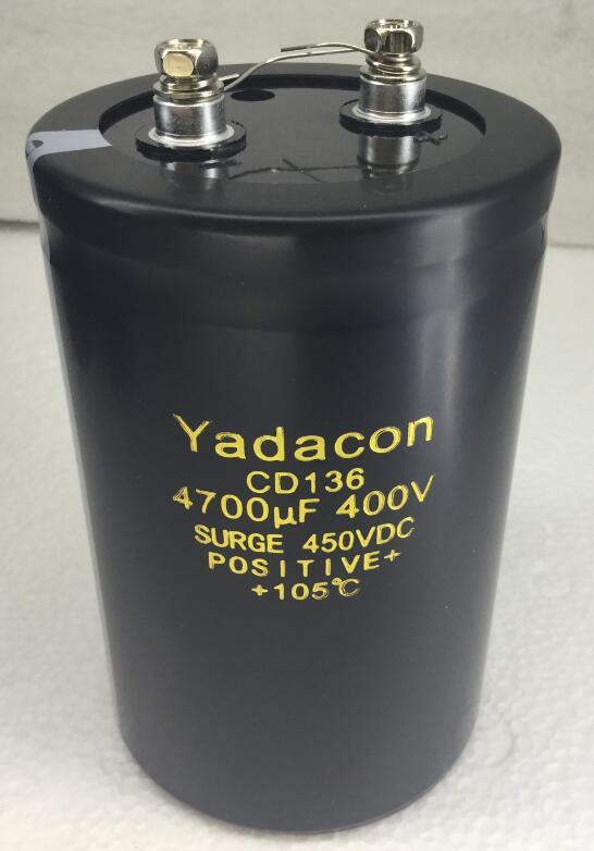 电路常识性概念电容 所谓电容,就是容纳和释放电荷的电子元器件。 电容的基本工作原理就是充电放电,当然还有整流、振荡以及其它的作用。另外电容的结 构非常简单,主要由两块正负电极和夹在中间的绝缘介质组成 。 作为无源元件之一的电 容,其作用不外乎以下几种: 全新400V1000UF电容器电解电容 全新400V1200UF电容器电解电容 全新400V1500UF电容器电解电容 全新400V1800UF电容器电解电容 全新400V2200UF电容器电解电容 全新400V2700UF电容器电解电容 全新