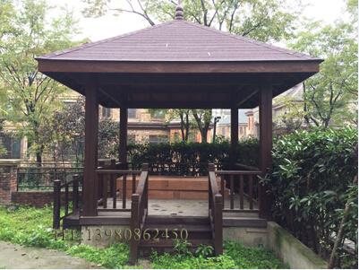 专注成都私家别墅花园设计/防腐木花架廊架亭子围栏