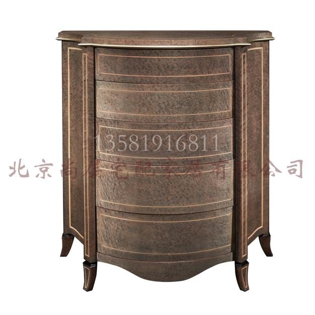 欧式实木家具样板房床头柜储物柜实木定制家具欧式会所收纳柜